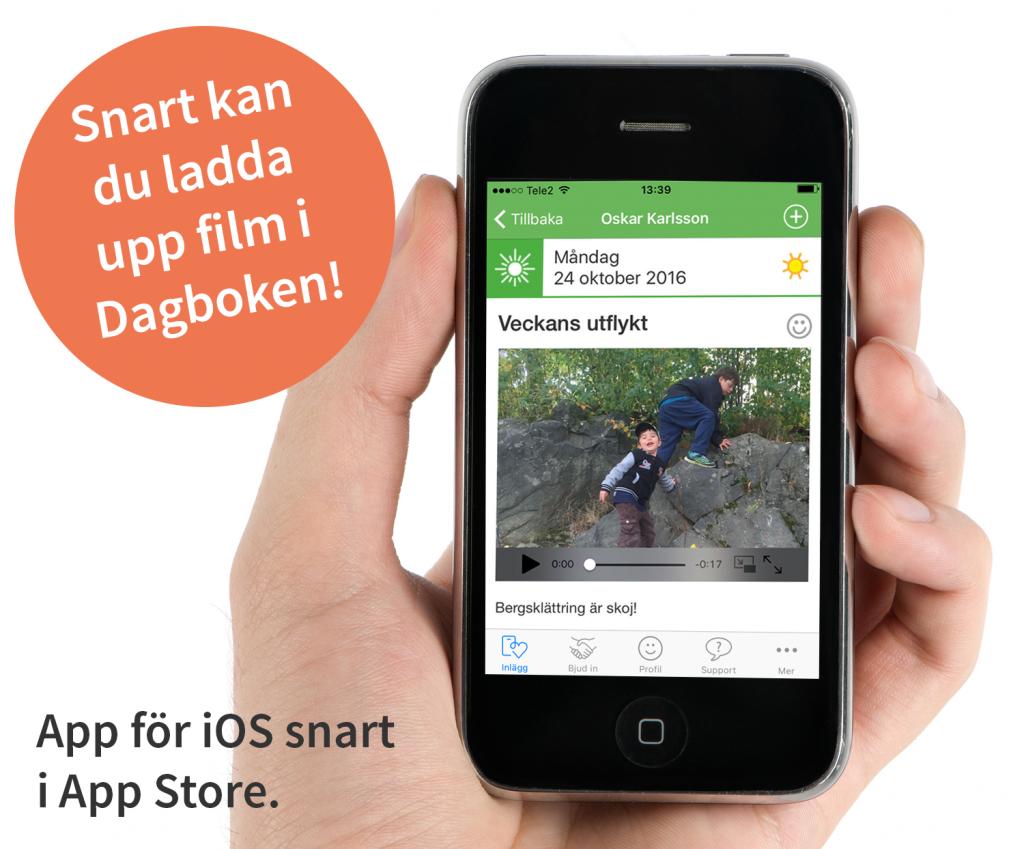 Dagboken snart som app för iOS